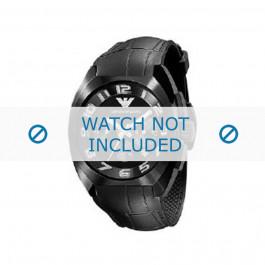 Cinturino per orologio Armani AR5846 Gomma Nero 22mm