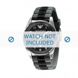 Armani cinturino orologio AR-5875 Silicone Nero 23mm