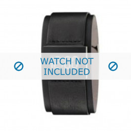 Armani cinturino orologio AR-7000 Pelle Nero