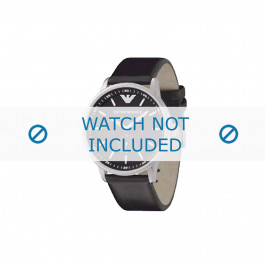 Armani cinturino orologio AR-0611 Pelle Nero 20mm