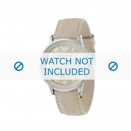 Armani cinturino orologio AR-0621 Pelle Bianco crema 20mm
