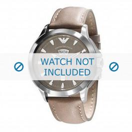 Armani cinturino dell'orologio AR0632 Pelle Marrone chiaro 23mm + cuciture marrone
