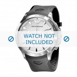 Cinturino per orologio Armani AR0634 / AR0631 Silicone Nero 23mm