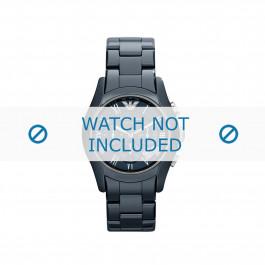 Cinturino per orologio Armani AR1469 Ceramica Blu 23mm
