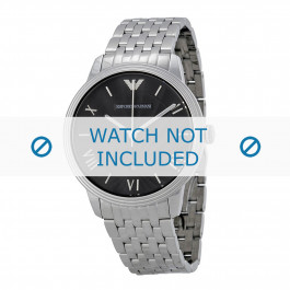 Armani cinturino dell'orologio AR1614 Metallo Argento 20mm