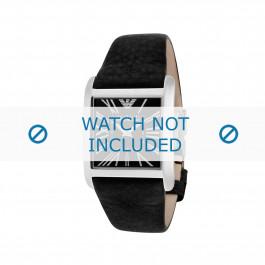 Cinturino per orologio Armani AR2007 Pelle Nero 24mm