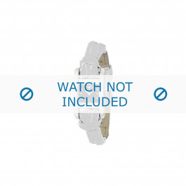 Armani cinturino orologio AR-5549 Pelle Bianco 10mm