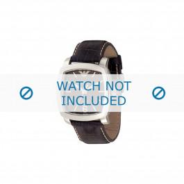 Armani cinturino orologio AR-5803 Pelle Marrone scuro 24mm
