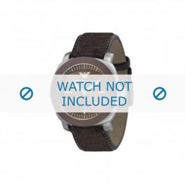 Cinturino per orologio Armani AR5819 Pelle Marrone