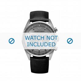 Armani cinturino dell'orologio AR5994 Pelle Nero 23mm