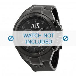 Cinturino per orologio Armani AX1050 Silicone Nero 14mm