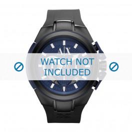 Armani cinturino orologio AX-1114 Silicone Nero 14mm