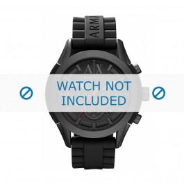 Cinturino per orologio Armani AX1212 Silicone Nero 22mm