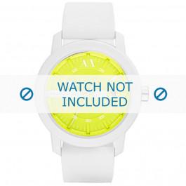 Cinturino per orologio Armani AX1241 Silicone Bianco 22mm