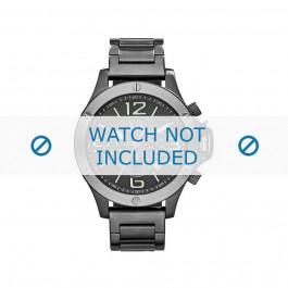 Cinturino per orologio Armani AX1507 Acciaio Grigio 22mm