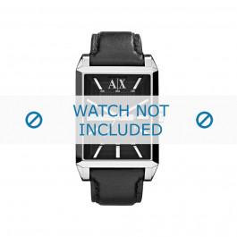 Cinturino per orologio Armani AX2113 Pelle Nero 24mm