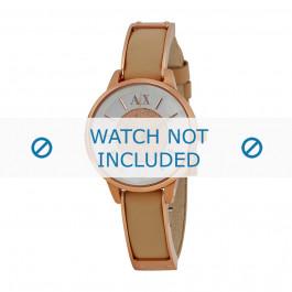 Cinturino per orologio Armani AX5353 Pelle Bianco crema 12mm