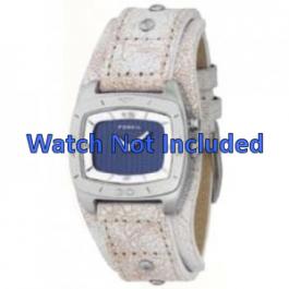 Cinturino per orologio Fossil BG2043 Pelle Beige 20mm