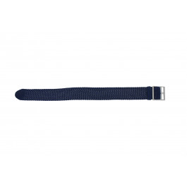 Cinturino per orologio Universale PRLN.20.B Nylon/perlon Blu 20mm