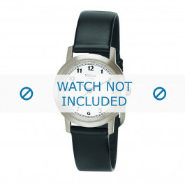 Boccia cinturino dell'orologio  3170-01 Pelle Nero 16mm