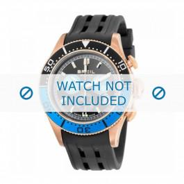 Cinturino per orologio Breil BW0406 Gomma Nero 22mm