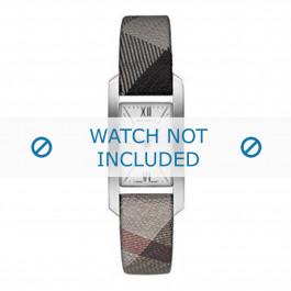 Burberry cinturino dell'orologio BU1115 Pelle Grigio