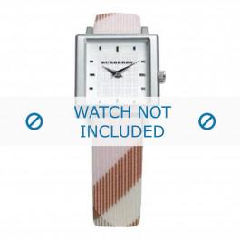 Burberry cinturino dell'orologio BU2004 Pelle Bianco crema / Beige