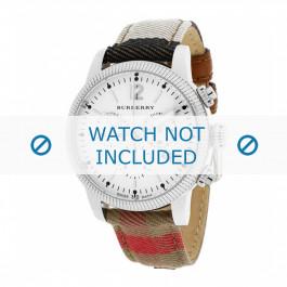Cinturino per orologio Burberry BU7820 Pelle Multicolore 20mm