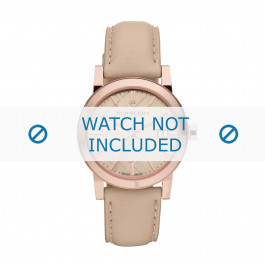 Cinturino per orologio Burberry BU9109 Pelle Beige 18mm