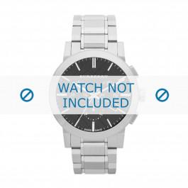 Burberry cinturino dell'orologio BU9351 Metallo Argento