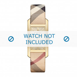 Cinturino per orologio Burberry BU9407 / BU9406 Pelle Multicolore 18mm