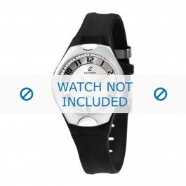 Cinturino per orologio Calypso K5162-1 / K5162-2 / K5162-3 Plastica Nero 14mm