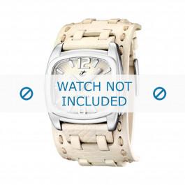 Calypso cinturino dell'orologio K5224/1 Pelle Bianco 26mm