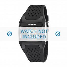 Cinturino per orologio Calypso K5563/1 Gomma Nero 26mm