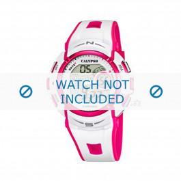 Calypso cinturino dell'orologio K5610-3 Gomma / plastica Bianco