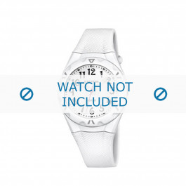 Calypso cinturino dell'orologio K6064-1 Gomma / plastica Bianco