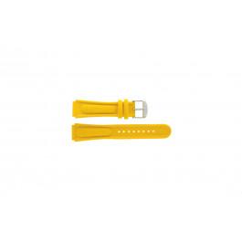 Cinturino per orologio Camel 0980-0989 / 0990-0999 Pelle Giallo 18mm