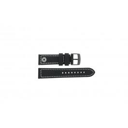 Cinturino per orologio Camel BC51084 Active Pelle Nero 24mm