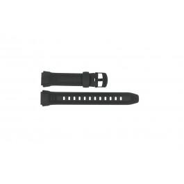 Cinturino per orologio Casio W-212H / 10300101 Plastica Nero 18mm
