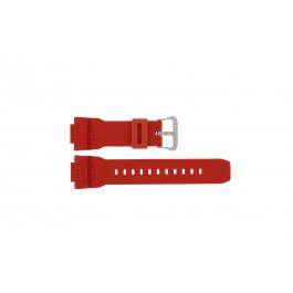 Cinturino per orologio Casio G-7900A-4 / 10332099 Gomma Rosso 16mm