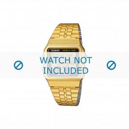 Casio cinturino orologio A500WEGA-1EF / A500WEGA-1 Acciaio Oro (Placcato) 18mm