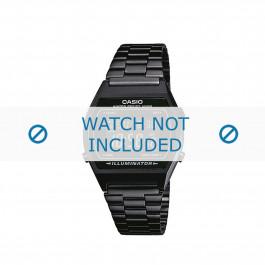 Casio cinturino orologio B640WB-1BEF / B640WB-1B  Acciaio Nero 18mm
