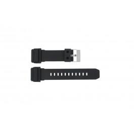 Cinturino per orologio GD-400-1W / 10475776 Silicone Nero 26mm