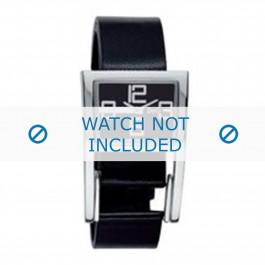 Cinturino per orologio Dolce & Gabbana 3719251215 Pelle Nero 18mm