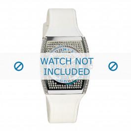 Cinturino per orologio Dolce & Gabbana DW0072 / F360002755 Gomma Bianco 25mm