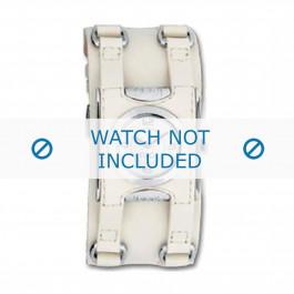 Cinturino per orologio Dolce & Gabbana DW0100 Pelle Bianco crema 24mm