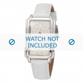 Dolce & Gabbana cinturino dell'orologio DW0114 Pelle Bianco + cuciture bianco