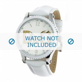 Dolce & Gabbana cinturino dell'orologio DW0706 Pelle Bianco 20mm + cuciture bianco