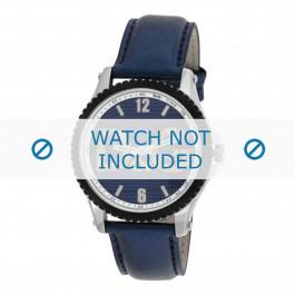 Dolce & Gabbana cinturino dell'orologio DW0709 Pelle Blu 20mm + cuciture blu