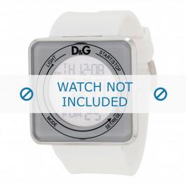 Dolce & Gabbana cinturino dell'orologio DW0735 Gomma / plastica Bianco 28mm